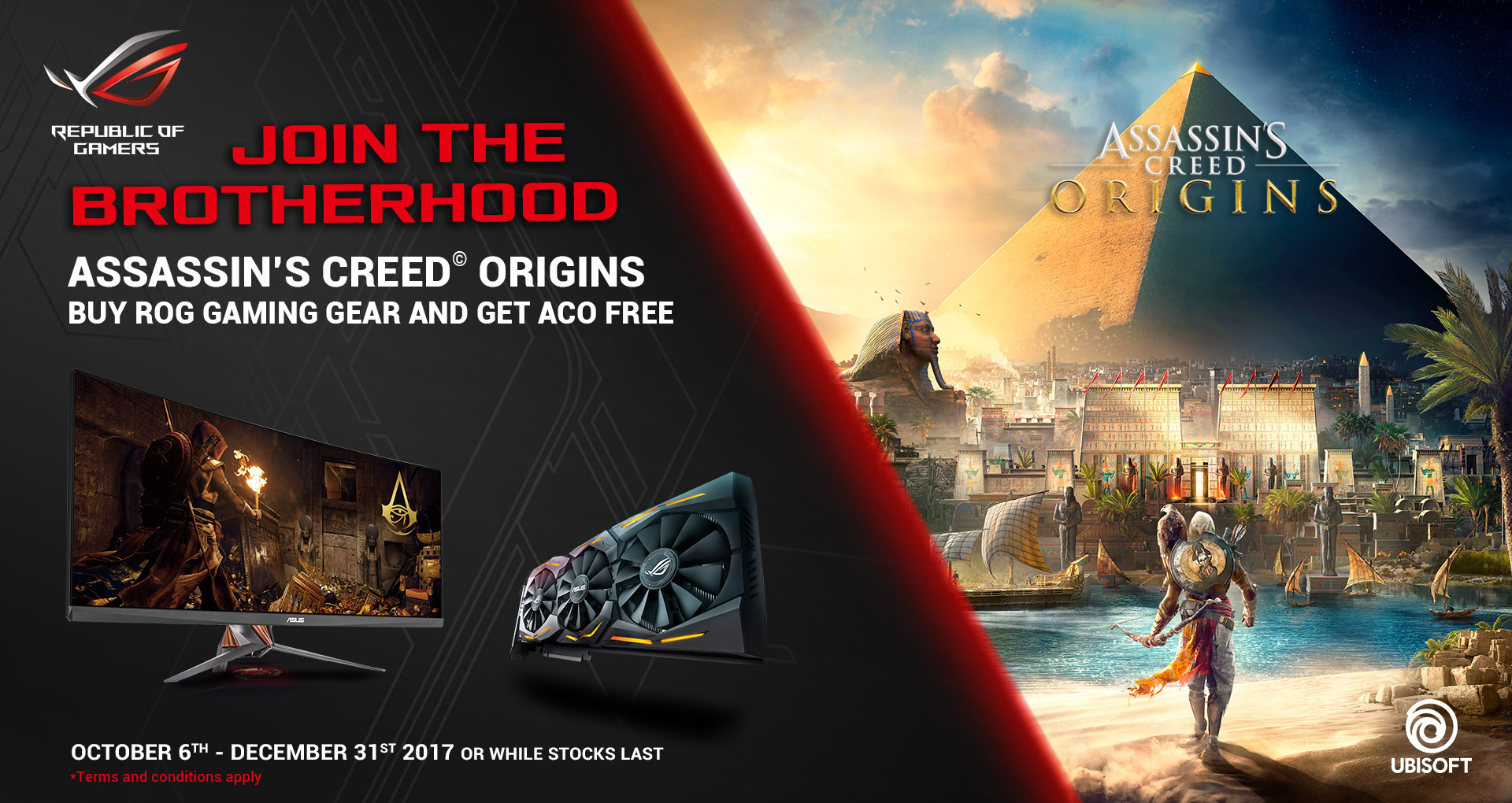 Asssassins Creed Origins Promotion