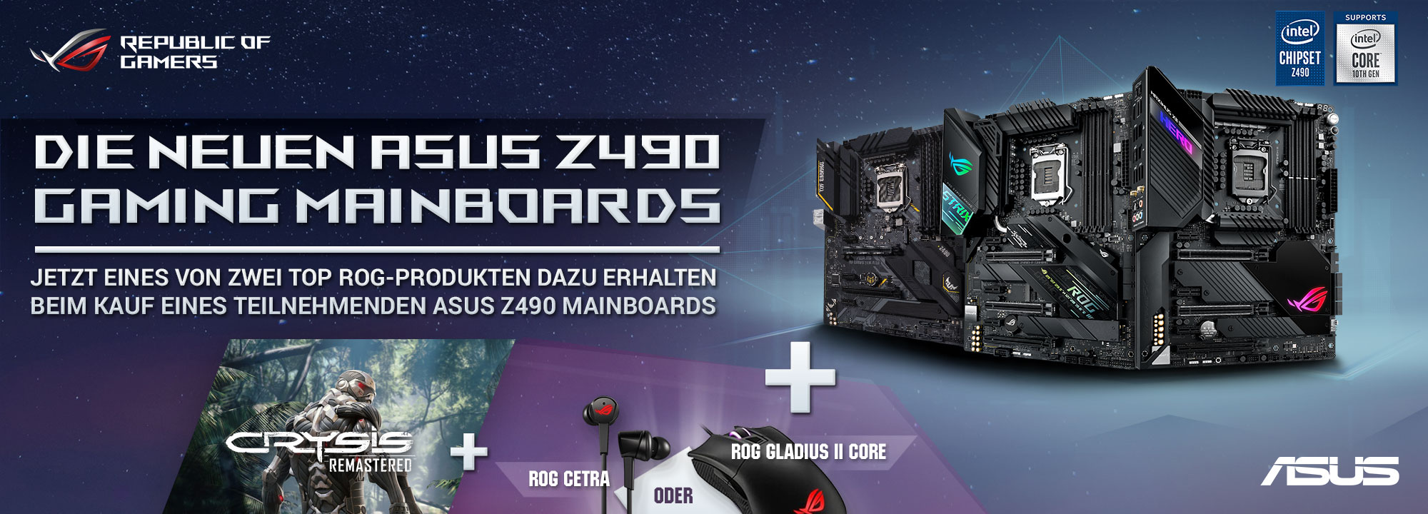 ASUS Z490 Crysis Mainboard Promotion