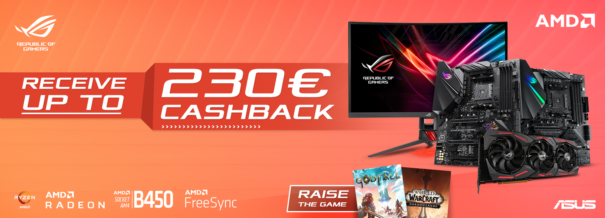 ASUS Graphics Cards, Motherboards and Monitors Cashback